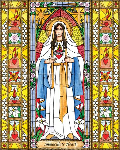 Immaculate Heart of Mary by Brenda Nippert