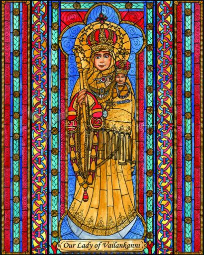Our Lady of Vailankanni by Brenda Nippert