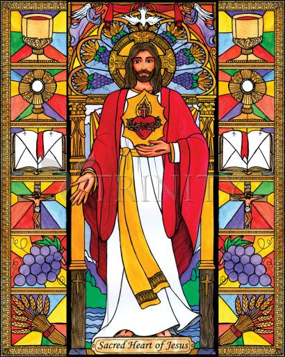 Sacred Heart of Jesus by Brenda Nippert