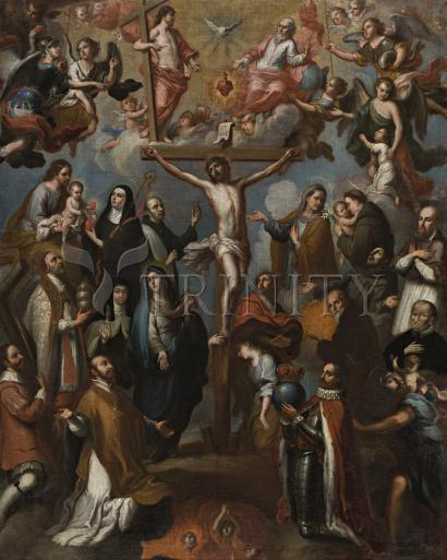 Allegory of Crucifixion with Jesuit Saints - Museum Religious Art Classics
