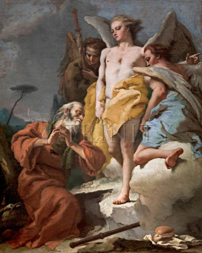 St. Abraham and Three Angels - Museum Religious Art Classics