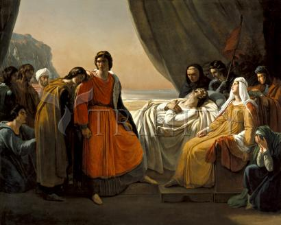 Death of St. Louis, King of France - Museum Religious Art Classics