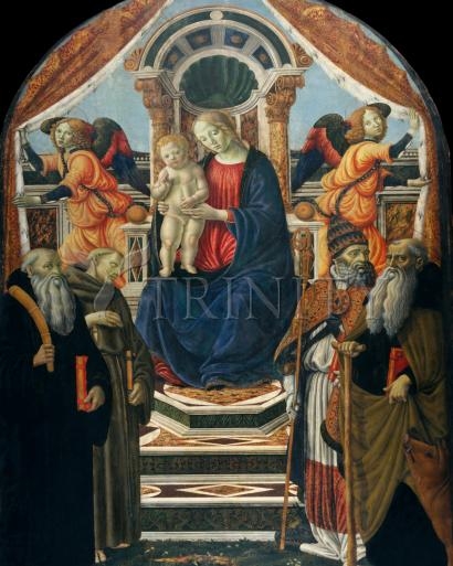 Madonna and Child Enthroned with Saints and Angels - Museum Religious Art Classics