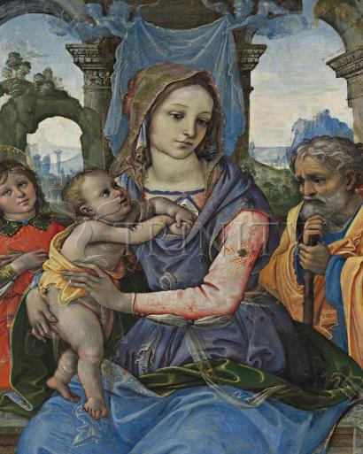 Madonna and Child with St. Joseph and Angel - Museum Religious Art Classics