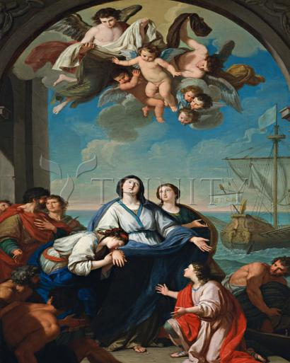 Departure of Sts. Paula and Eustochium for the Holy Land - Museum Religious Art Classics