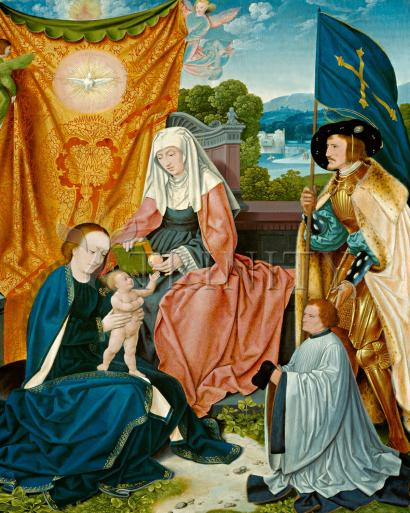 Mary and Child with Sts. Anne, Gereon, and Donor - Museum Religious Art Classics