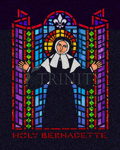 St. Bernadette of Lourdes - In Blue by D. Paulos