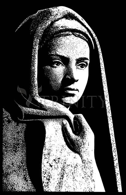 St. Bernadette in Lourdes, Drawing of Vilon's statue by Dan Paulos