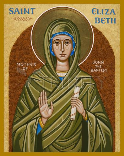 St. Elizabeth, Mother of John the Baptizer by Joan Cole