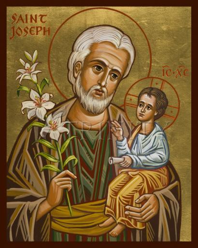St. Joseph and Child Jesus by Joan Cole