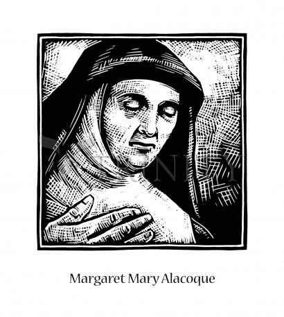 St. Margaret Mary Alacoque by J. Lonneman