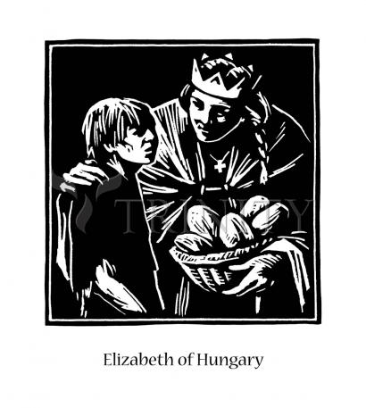 St. Elizabeth of Hungary by Julie Lonneman