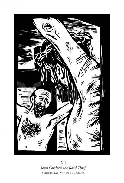 Scriptural Stations of the Cross 11 - Jesus Comforts the Good Thief by Julie Lonneman