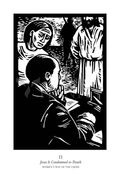 Women's Stations of the Cross 02 - Jesus is Condemned to Death by Julie Lonneman