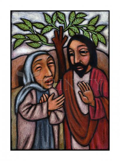 Lent, 5th Sunday - Martha Pleads With Jesus by Julie Lonneman