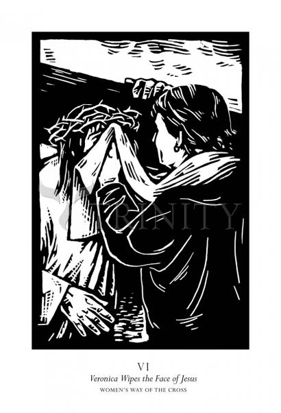 Women's Stations of the Cross 06 - St. Veronica Wipes the Face of Jesus by Julie Lonneman