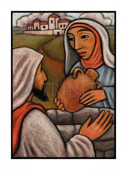 Lent, 3rd Sunday - Woman at the Well by Julie Lonneman