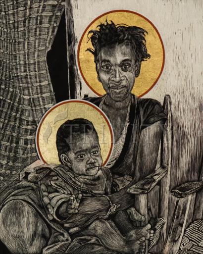 Christmas Madonna - Haiti by Lewis Williams, OFS