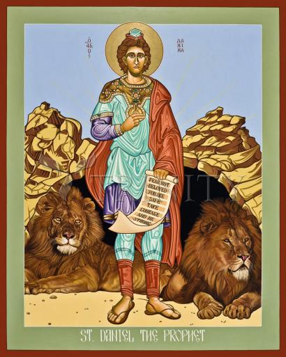 St. Daniel in the Lion's Den by Lewis Williams, OFS