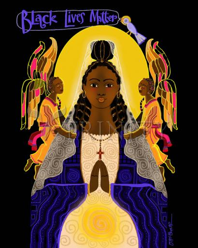 Black Lives Matter Madonna by Br. Mickey McGrath, OSFS