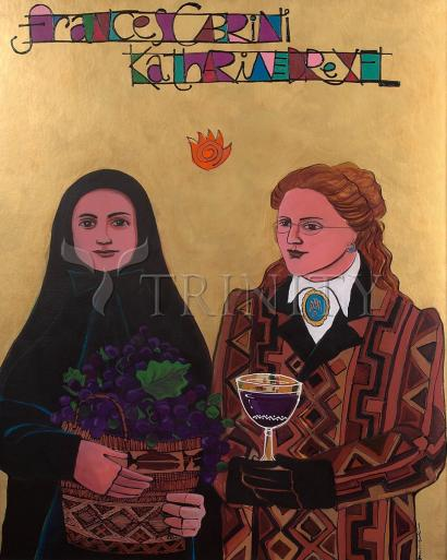 Sts. Drexel and Cabrini by Br. Mickey McGrath, OSFS