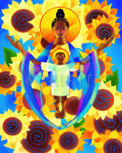 Madonna and Child of Good Health with Sunflowers by Br. Mickey McGrath, OSFS