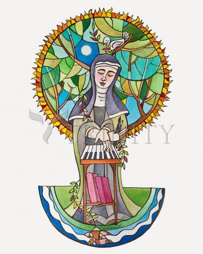 St. Hildegard of Bingen by Br. Mickey McGrath, OSFS