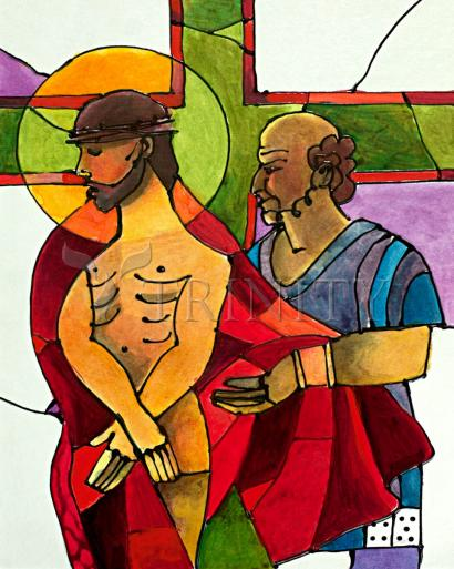 Stations of the Cross - 10 Jesus is Stripped of His Clothes by Br. Mickey McGrath, OSFS