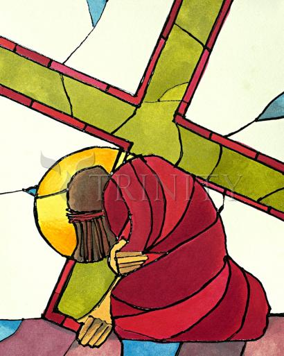 Stations of the Cross - 7 Jesus Falls a Second Time by Br. Mickey McGrath, OSFS