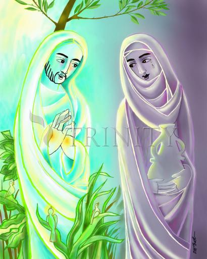 Jesus with Mary Magdalene by Br. Mickey McGrath, OSFS