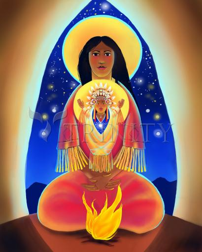 Lakota Madonna with Child by Br. Mickey McGrath, OSFS