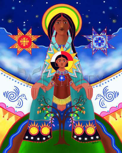 Lakota Tipi Madonna by Br. Mickey McGrath, OSFS
