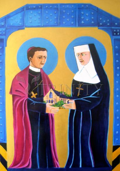 Sts. John Neumann and Katharine Drexel by Br. Mickey McGrath, OSFS