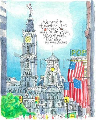 Pope Francis: Philly City Hall by Br. Mickey McGrath, OSFS