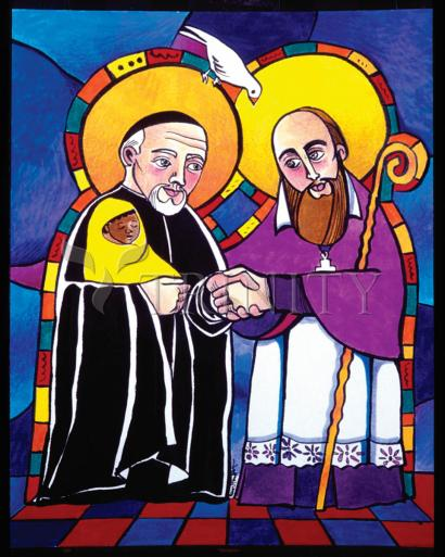 Sts. Francis de Sales and Vincent de Paul by Br. Mickey McGrath, OSFS