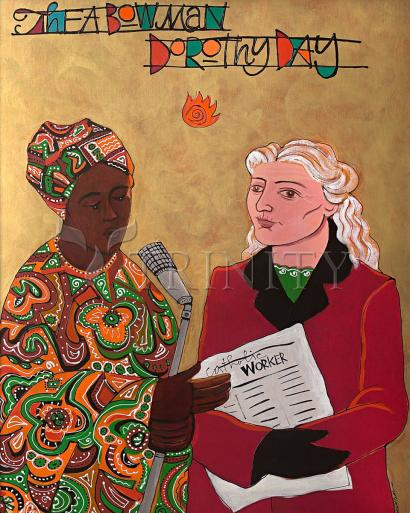 Sr. Thea Bowman and Dorothy Day by Br. Mickey McGrath, OSFS