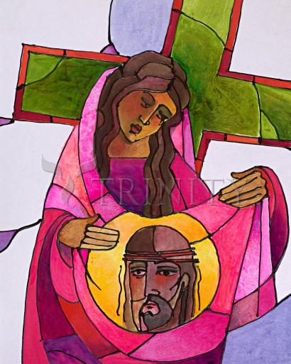 Stations of the Cross - 6 St. Veronica Wipes the Face of Jesus by Br. Mickey McGrath, OSFS
