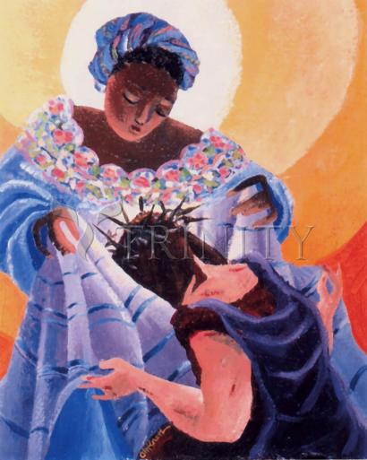 St. Veronica Wipes the Face of Jesus: 6th Station by Br. Mickey McGrath, OSFS
