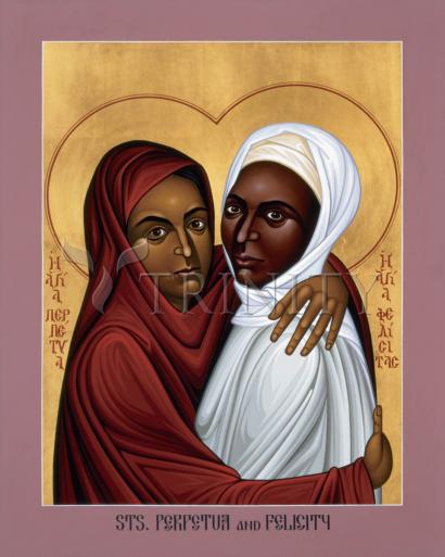 Sts. Perpetua and Felicity by Br. Robert Lentz, OFM