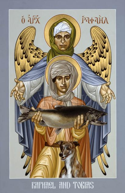 St. Raphael and Tobias by Br. Robert Lentz, OFM