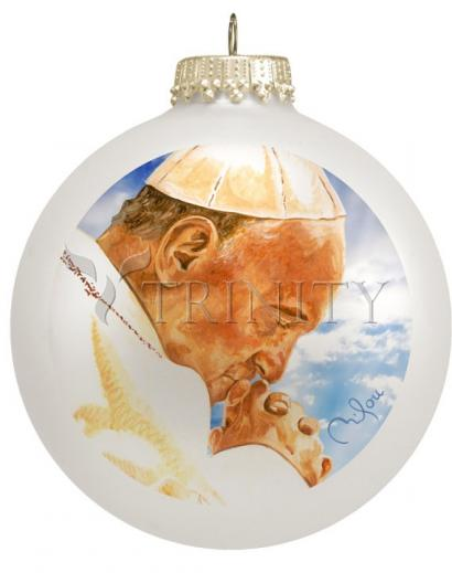 Pope Francis Christmas Ornament by P. Milou