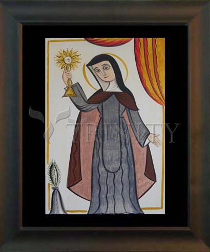 Desk Frame Black - St. Clare of Assisi by A. Olivas