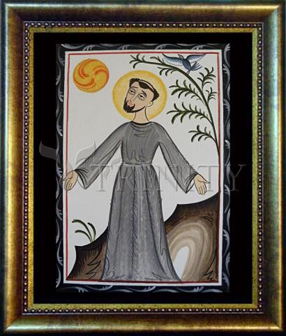 Desk Frame Bronze - St. Francis of Assisi by A. Olivas