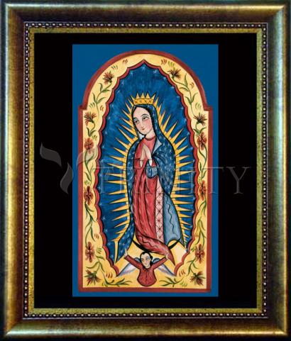 Desk Frame Bronze - Our Lady of Guadalupe by A. Olivas
