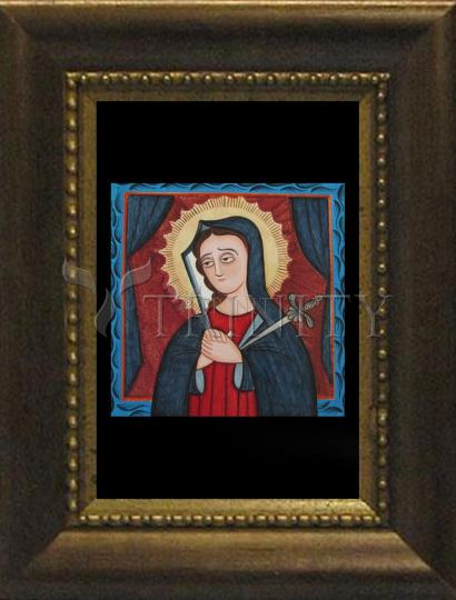 Desk Frame Bronze - Mater Dolorosa - Mother of Sorrows by A. Olivas