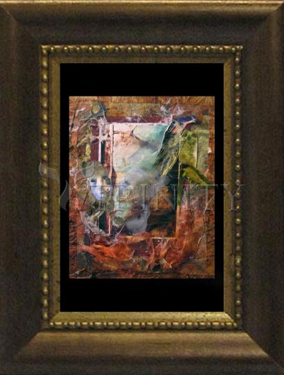 Desk Frame Bronze - Faces Amidst Tattered Shroud by B. Gilroy