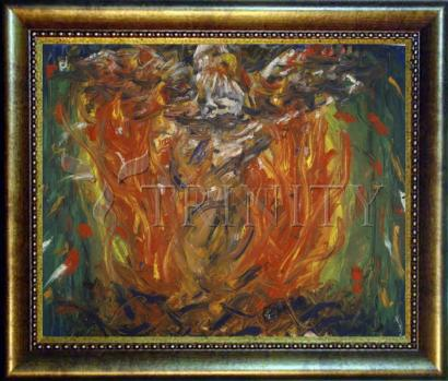 Desk Frame Bronze - Eagle in Fire That Does Not Burn by B. Gilroy