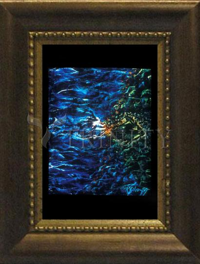 Desk Frame Bronze - Fish Fossil by B. Gilroy