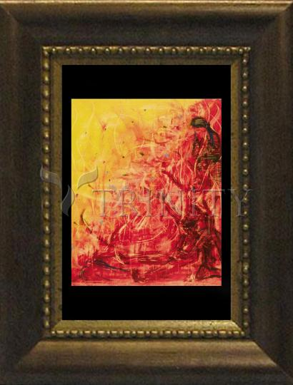 Desk Frame Bronze - Figures In Flames by B. Gilroy