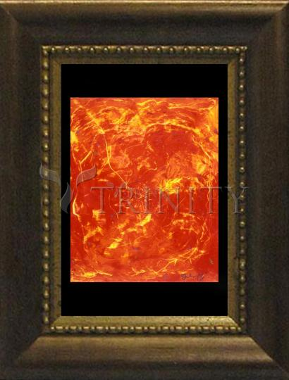 Desk Frame Bronze - Flames of Love by B. Gilroy